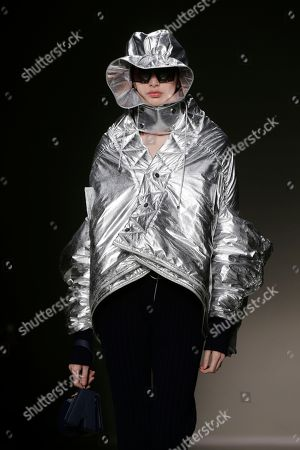 A model wears a creation as part of the Angela Chen womens Fall/Winter 2018/19 fashion collection, presented in Milan, Italy