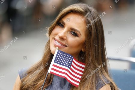 """Stock Picture of Actress Vanessa Villela, known for her role in """"The Lord of the Skies,"""" joins other immigrants taking the citizenship oath during naturalization ceremonies at a U.S. Citizenship and Immigration Services (USCIS) ceremony in Los Angeles, . More than 1 million people filed applications for citizenship in the year through March 2017, according to statistics from U.S. Citizenship and Immigration Services"""