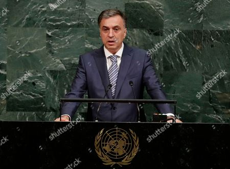 President of Montenegro, Filip Vujanovic speaks at the United Nations General Assembly, at the U.N. headquarters