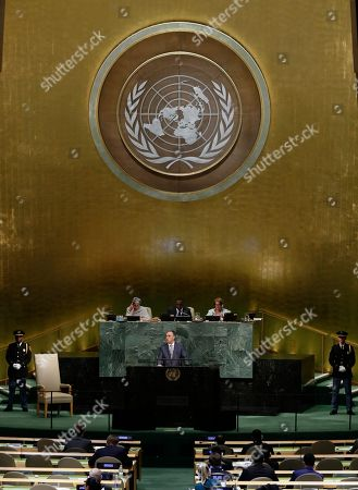President of Montenegro Filip Vujanovic the United Nations General Assembly, at the United Nations headquarters