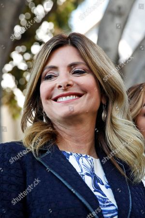 """This July 10, 2017 photo shows attorney Lisa Bloom outside a courthouse in downtown Los Angeles. Bloom represents Montia Sabbag, who came forward and said she was """"involved"""" with box office star Kevin Hart a month ago, but is not an extortionist. Sabbag said that since images of her became public she has been the subject of lies"""