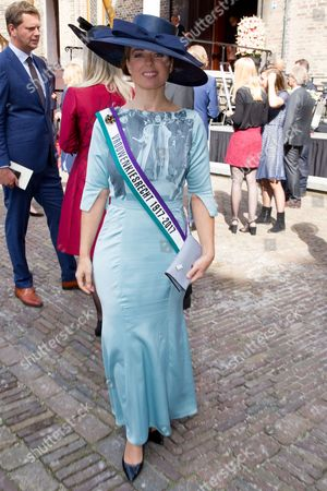 Marianne Thieme celebrates Prinsjesdag (Budget Day), the festive opening of the new parliamentary year of the States General every third Tuesday of September at the Binnenhof in The Hague