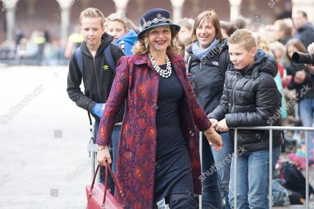 Edith Schippers celebrate Prinsjesdag (Budget Day), the festive opening of the new parliamentary year of the States General every third Tuesday of September at the Binnenhof in The Hague