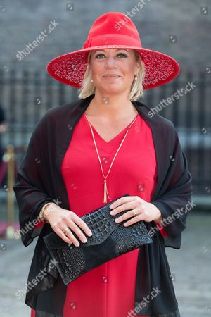 Jeanine Hennis-Plasschaert celebrates Prinsjesdag (Budget Day), the festive opening of the new parliamentary year of the States General every third Tuesday of September at the Binnenhof in The Hague