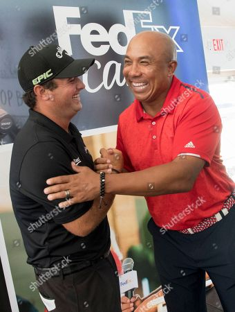Hines Ward, Patrick Reed. Pittsburgh Steelers legend Hines Ward, right, greets 2017 Presidents Cup U.S. team member Patrick Reed at the FedEx Junior Business Challenge at the PGA TOUR's TOUR Championship, in Atlanta. Both participated as panel judges at the event, where Junior Achievement students delivered original business pitches for the opportunity to generate a $75,000 donation from FedEx to their local JA chapter