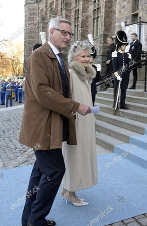 Stock Image of Carl Bildt, Anna Maria Corazza Bildt