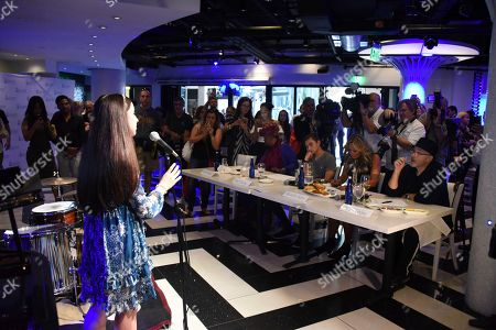 Valentina Ortiz, age thirteen auditions in front of Judges, Phil Collins, Orianne Collins, Nicholas Collins and Betty Wright at the Little Dreams Foundation Annual Music Auditions at Estefan Kitchen on in Miami