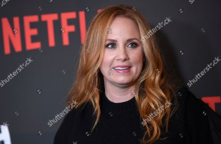 """Jessica Chaffin arrives at the premiere of """"Big Mouth"""" at Break Room 86, in Los Angeles"""