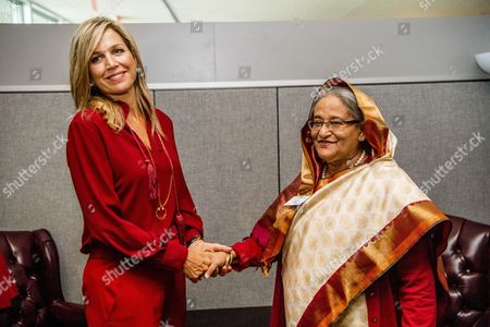 Stock Photo of Queen Maxima, Sheikh Hasina Wajed