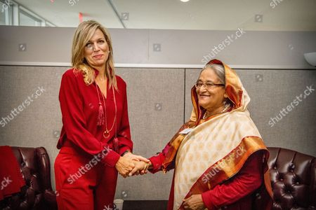 Stock Image of Queen Maxima, Sheikh Hasina Wajed