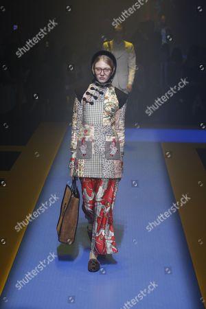 Stock Picture of Maryna Polkanova on the catwalk