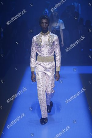 Alton Mason on the catwalk