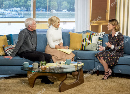 Phillip Schofield and Holly Willoughby with Zoe Tapper