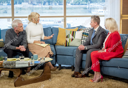 Phillip Schofield and Holly Willoughby with Ben Bennett and Natalie Bennett