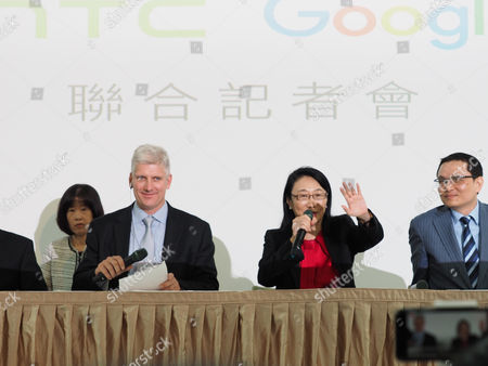 Rick Osterloh, Cher Wang and Chang Chia-lin