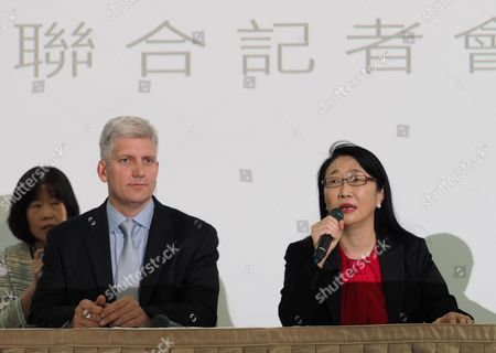 Cher Wang and Rick Osterloh