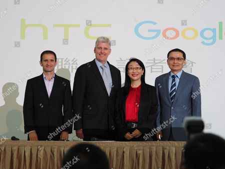 Editorial photo of Taiwan's HTC and Google joint press conference, New Taipei City - 21 Sep 2017