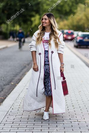 Editorial picture of Street Style, Spring Summer 2018, London Fashion Week, UK - 18 Sep 2017