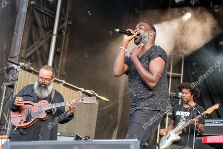 Stock Picture of TV On The Radio - David Andrew Sitek, Tunde Adebimpe and Kyp Malone