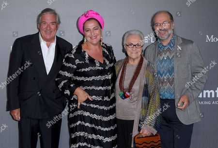 Bruno Ragazzi, Angela Missoni, Rosita Missoni and Luca Missoni