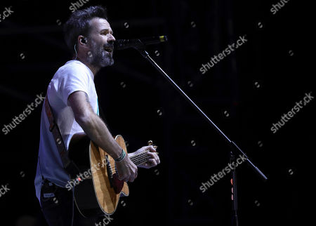 Pau Dones, vocalist of Jarabe de Palo from Spain, performs at the 18th edition of the Vive Latino music festival in Mexico City. Jarabe de Palo's concerts on Sept. 21-22, 2017 at the Esperanza Iris theatre were suspended due to the Sept. 19, 2017 earthquake in Mexico