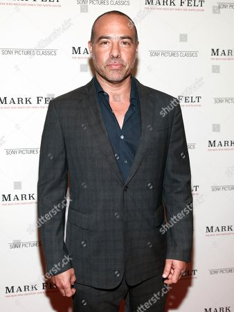 "Stock Image of Peter Landesman attends the premiere of ""Mark Felt: The Man Who Brought Down the White House"" at The Whitby Hotel, in New York"
