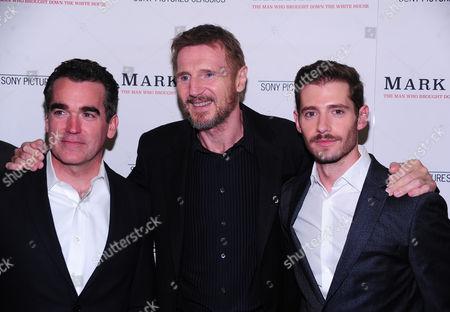 Brian D'Darcy, Liam Neeson and Julian Morris