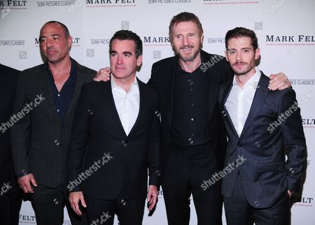 Peter Landeseman, Brian D'Darcy, Liam Neeson and Julian Morris
