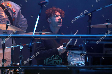 Jeremy Gara with Arcade Fire performs at the Infinite Energy Center, in Atlanta