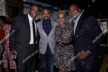 Stock Picture of Jeff Harleston, Louis Carr, Linda Johnson. Jeff Harleston, General Council of UMG, Louis Carr, President of Sales at BET, Linda Johnson Rice, CEO of Ebony Media and guest attend the Universal Music Group and Ebony celebration in her honor during 2017 CBCF ALC at Ajax Gallery, in Washington, DC