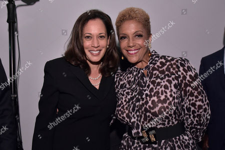 Kamala D. Harris, Linda Johnson. Senator. Kamala D. Harris (D-CA), and Linda Johnson Rice, CEO of Ebony Media attend the Universal Music Group and Ebony celebration in her honor during 2017 CBCF ALC at Ajax Gallery, in Washington, DC