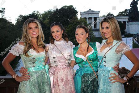 Stock Photo of Natalie Lefevre, Lilly Becker mit Simone Ballack and Shima Lehmann