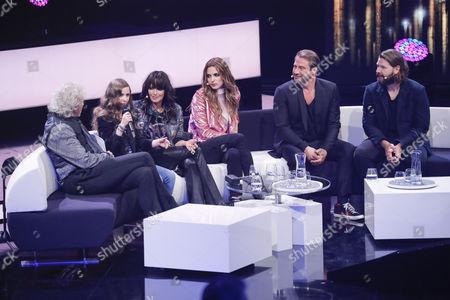 Thomas Gottschalk, Sofie Thomas, Nena, Larissa Freitag, Sasha and Rea Garvey