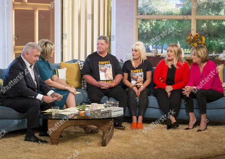 Eamonn Holmes and Ruth Langsford with Paul Hayden, Suzane Hayden, Alison Cope and Sue Hill