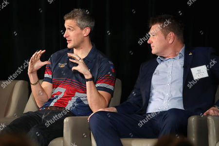British veteran David Wiseman and guest engage in the True Patriot Love Symposium, with Prince Harry in attendance, at Scotia Plaza during a pre Invictus Games event