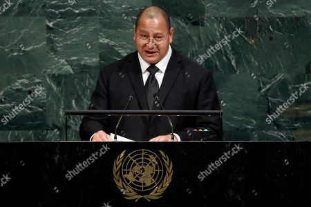 King Tupou VI, King of the Kingdom of Tonga, addresses the United Nations General Assembly, at U.N. headquarters