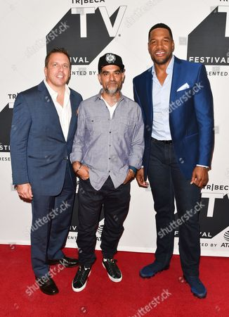 Chris Long, Gotham Chopra, Michael Strahan