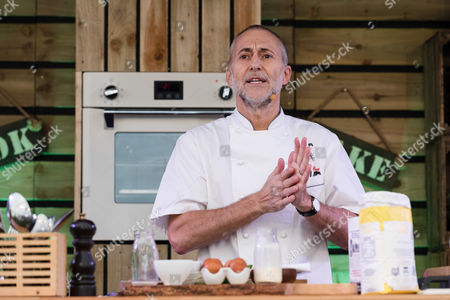Editorial image of Michel Roux Jr cookery demonstration at The BBC Good Food's Feast, London, UK - 22 Sep 2017