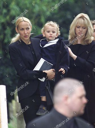The Funeral Of Eva Jagger The Mother Of Rolling Stones Singer Mick Jagger Who Died From A Heart Condition Aged 87. Picture Shows Fashion Model Jerry Hall And Jagger's Two Year Old Daughter Gabriel.