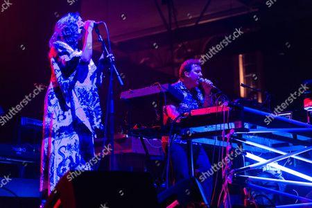 Editorial photo of Joe Goddard in concert at Alexandra Palace, London, UK - 22 Sep 2017