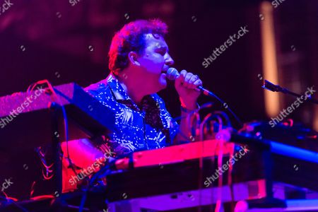 Stock Image of Joe Goddard performing. Joe is known for being a part of Hot Chip.