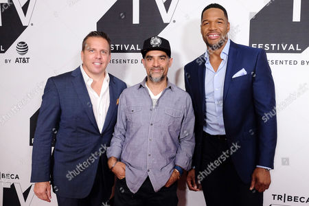Christopher Long (Audience Network; AT&T), Gotham Chopra and Michael Strahan
