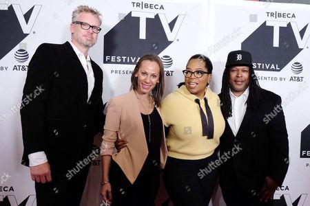 John Sinclair, Keayr Braxton, Oprah Winfrey and Shaka Senghor