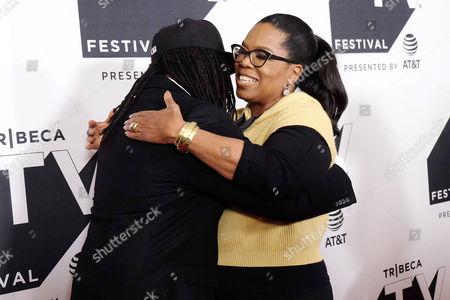 Shaka Senghor and Oprah Winfrey