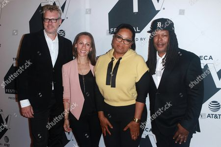 Jon Sinclair, Keayr Braxton, Oprah Winfrey and Shaka Senghor