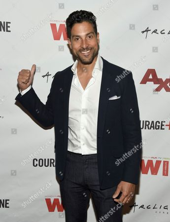 "Adam Rodriguez attends a panel discussion for ""Axis"" at ArcLight Hollywood, in Los Angeles"