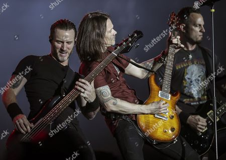 Stock Photo of Myles Kennedy, Brian Marshall and Mark Tremonti