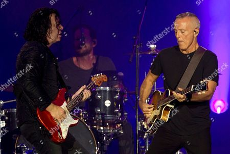 Curt Smith, right, and Roland Orzabal, of Tears for Fears, perform at the Rock in Rio music festival in Rio de Janeiro, Brazil
