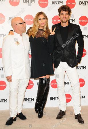 Nicky Johnston, Abigail Clancy and Max Rogers