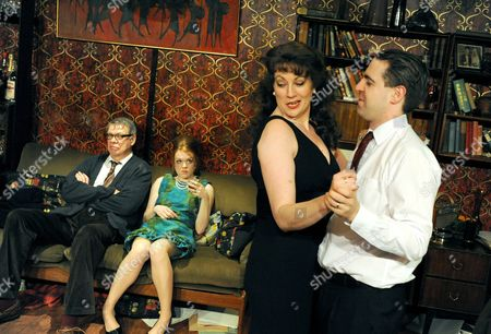 'Who's Afraid of Virginia Woolf'  - Matthew Kelly (George), Louise Kempton (Honey), Tracey Childs (Martha) and Mark Farrelly (Nick)